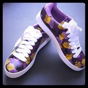 Coach Plum Wild Flowers Sneaker Spring 8.5B